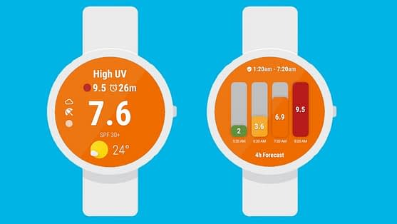 UV Index Now app for smartwatch