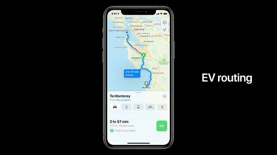 Apple Maps are Getting Updated Map View For Cycling and EV Users